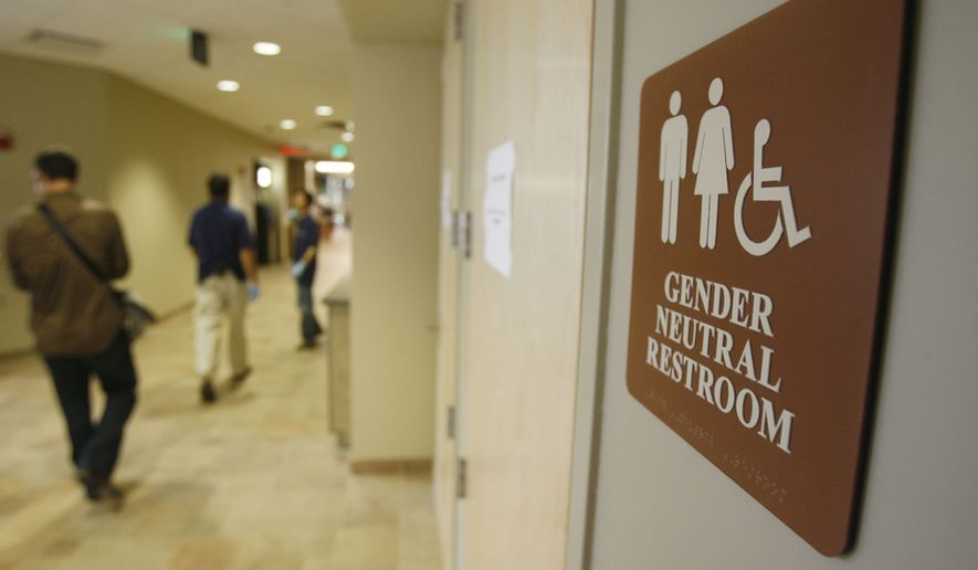 A Sign Marks The Entrance To A Gender Neutral Restroom At The University Of  Vermont In
