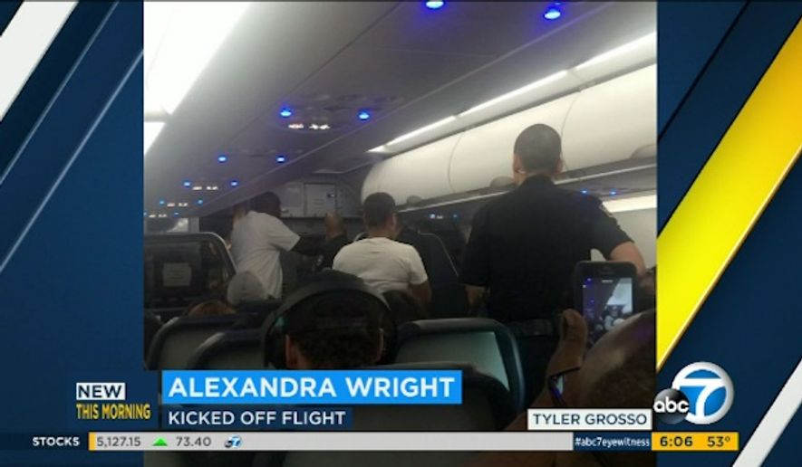 Seven black passengers who were kicked off a Spirit Airlines flight from Los Angeles to Dallas on Monday are alleging racial discrimination. (KABC 7)