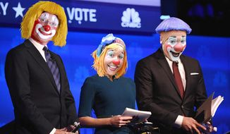 Illustration on the recent GOP debate hosted by CNBC      The Washington Times