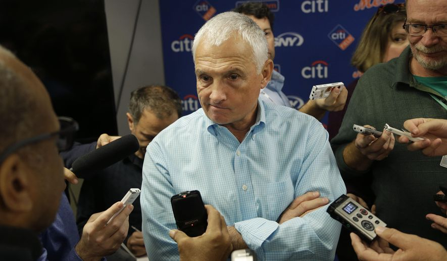New York Mets manager Terry Collins speaks to reporters during a news conference in New York, Wednesday, Nov. 4, 2015. (AP Photo/Seth Wenig)