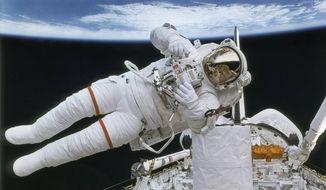 NASA Astronaut during a space walk (Image from NASA)