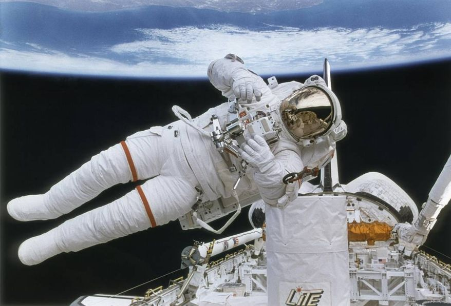 NASA Astronaut during a space walk (Image from NASA)
