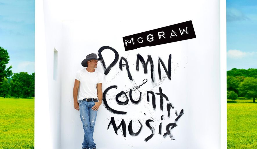 "This CD cover image released by Big Machine Records shows ""Damn Country Music,"" the latest release by Tim McGraw. (Big Machine Records via AP)"
