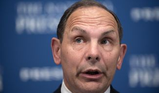 Veterans Affairs Secretary Robert McDonald talks about the state of the department while speaking at a luncheon at the National Press Club in Washington on Nov. 6, 2015. (Associated Press) **FILE**
