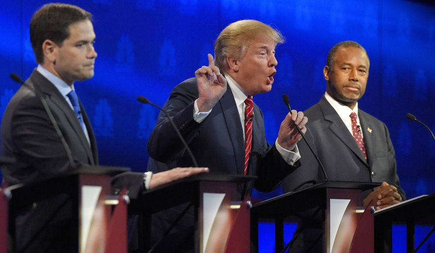 As they have risen in the polls and established themselves as top contenders in the race, Ben Carson (right) and Marco Rubio (left) increasingly have become focuses of investigative reporters and for Republican presidential front-runner Donald Trump. (Associated Press)