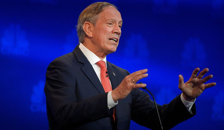 Former New York Gov. George Pataki missed the filing deadline to get on the primary ballots in Alabama and Arkansas, signaling his struggling campaign may not make it very deep into next year. Former Virginia Gov.  James S. Gilmore III also missed the deadline. (Associated Press)