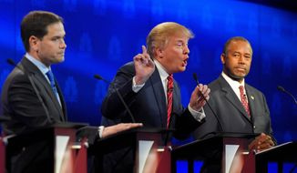 Several Republican insiders say that Donald Trump (left) and Ben Carson, despite espousing positions the GOP faithful support, lack the ability to be effective as president if elected. (Associated Press)