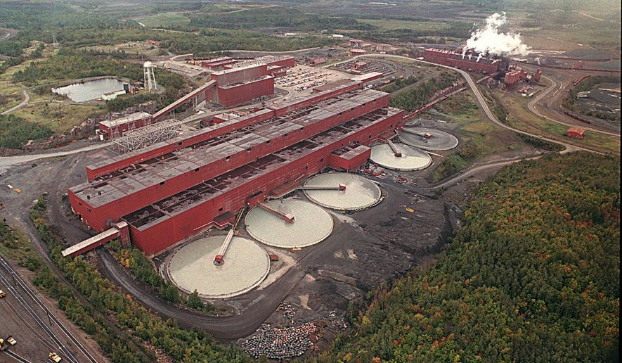 FILE - This undated file photo shows the LTV Steel processing plant near Hoyt Lakes, Minn., which was taken over by PolyMet Mining Corp. to use as a copper-nickel processing plant. A highly anticipated environmental analysis on the proposed PolyMet mining project was set for release Friday, Nov. 6, 2015. The release of the report by the Department of Natural Resources would initiate a 30-day public comment period. (Mesabi Daily News via AP, File)