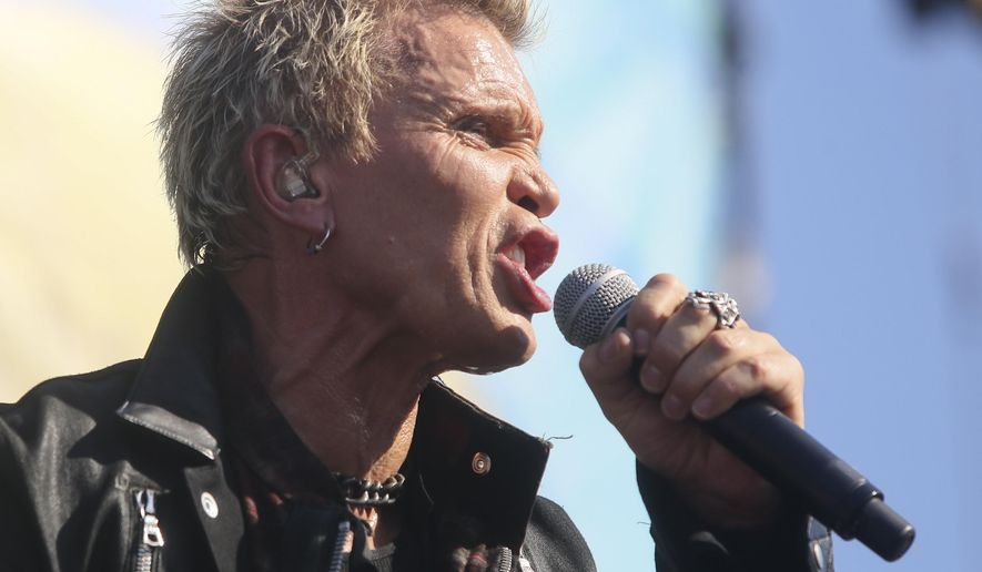 FILE - This Oct. 2, 2015 file photo Billy Idol performs at the Austin City Limits Music Festival in Zilker Park in Austin, Texas. Idol, announced Monday, Nov. 9, a new Las Vegas residency with 12 dates in March and May 2016. It will be at the House of Blues venue inside the Mandalay Bay casino-hotel. (Photo by Jack Plunkett/Invision/AP,File)