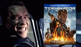 Arnold Schwarzenegger stars as a happy T-800 in Terminator Genisys now available on Blu-ray from Paramount Home Entertainment.