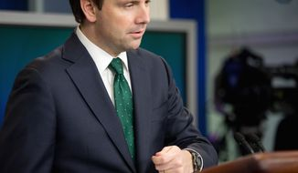 White House press secretary Josh Earnest talks to the media during the daily press briefing at the White House in Washington on Nov. 10, 2015. (Associated Press)