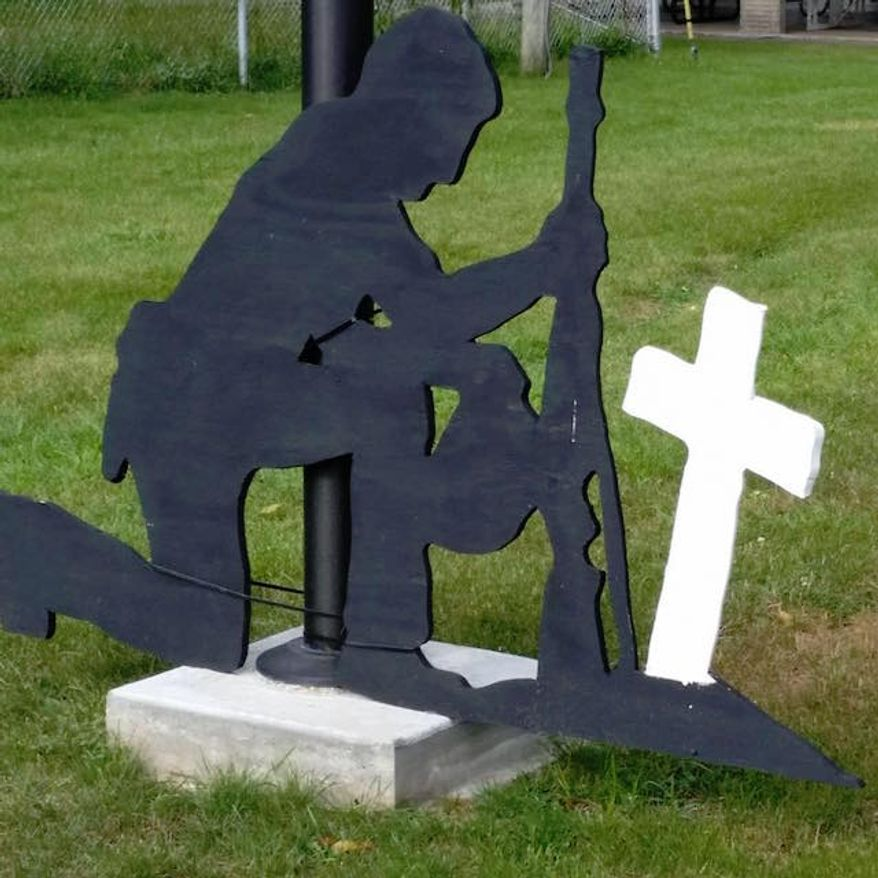 Two Knoxville, Iowa City Council members who voted last week to remove a veterans memorial from a city park have been unseated. (Facebook/@Stop the Insanity)