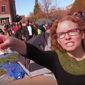"""Melissa Click, now a former assistant professor with the University of Missouri Department of Communication, tried to grab a recording device from student reporter Mark Schierbecker. She then called for """"muscle"""" to remove him from filming student protesters in November 2015. (YouTube/@Mark Schierbecker) ** FILE **"""