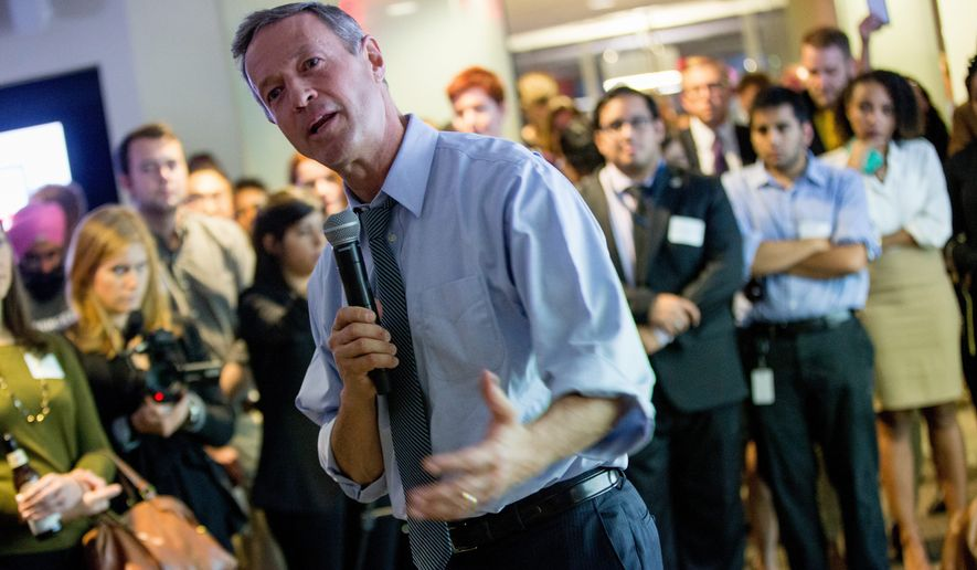 Former Maryland Gov. Martin O'Malley is polling at just 3 percent the latest Monmouth University poll from New Hampshire. (Associated Press)