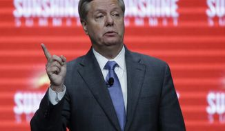 Republican presidential candidate, Sen. Lindsey Graham, R-SC, addresses the Sunshine Summit in Orlando, Fla., Friday Nov. 13, 2015. (AP Photo/John Raoux)
