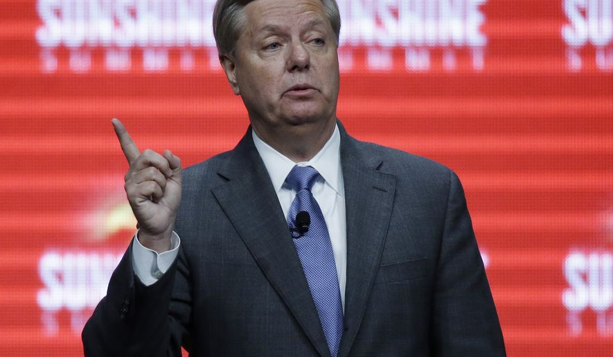Republican presidential candidate, Sen. Lindsey Graham, R-SC, addresses the Sunshine Summit in Orlando, Fla., Friday Nov. 13, 2015. (AP Photo/John Raoux)