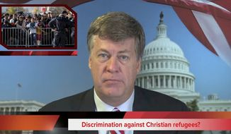 Tim Constantine reports on the possible discrimination against Christian refugees, Obama's plea for Americans to welcome Muslims, and the return of a Woman of the Year award.