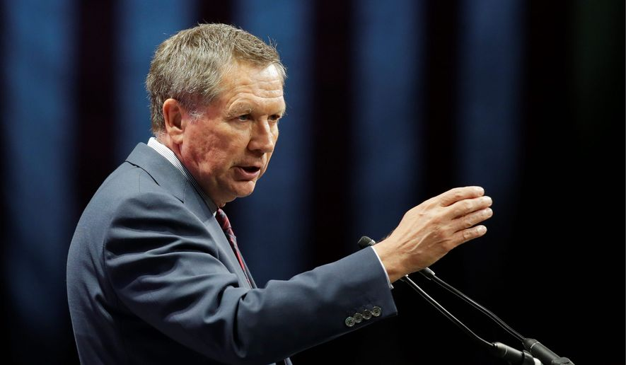 Republican presidential candidate Ohio Gov. John Kasich in a speech Tuesday vowed to lead an international coalition against terrorists, with his campaign saying he's got the chops to do it thanks to 18 years on the House Armed Services Committee. (Associated Press)
