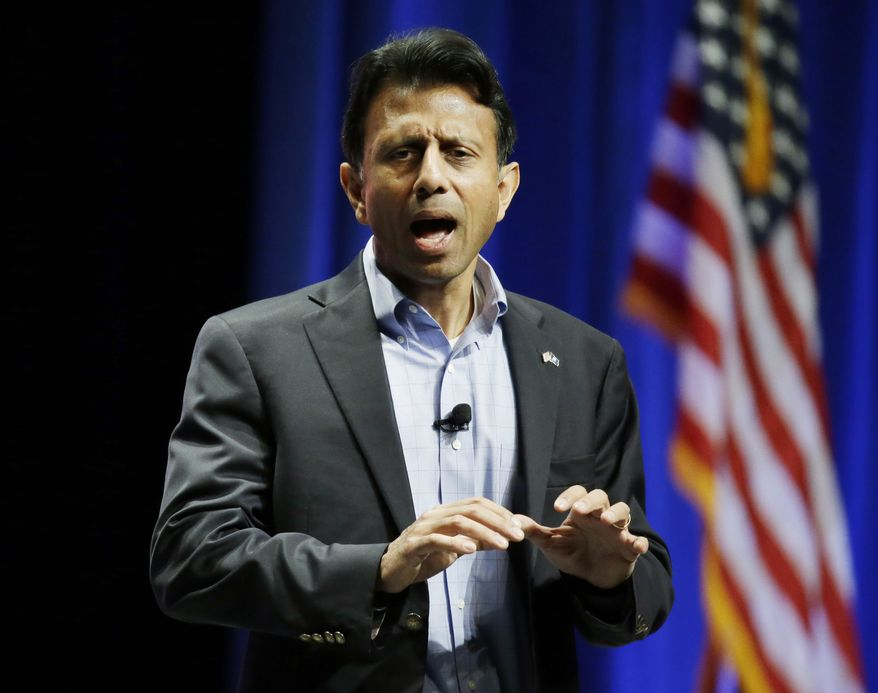 """""""This is not my time,"""" Louisiana Gov. Bobby Jindal announced on Fox News, adding he was not ready to endorse one of his rivals. (Associated Press)"""