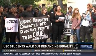 Students at the University of South Carolina staged a walkout on Monday, issuing a list of demands that included increasing racial diversity on campus and providing gender neutral housing. (WLTX 19)