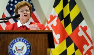 """Sen. Barbara A. Mikulski, Maryland Democrat, said at her first conference committee in years, """"I thought I would retire before I saw this again."""" (associated press)"""
