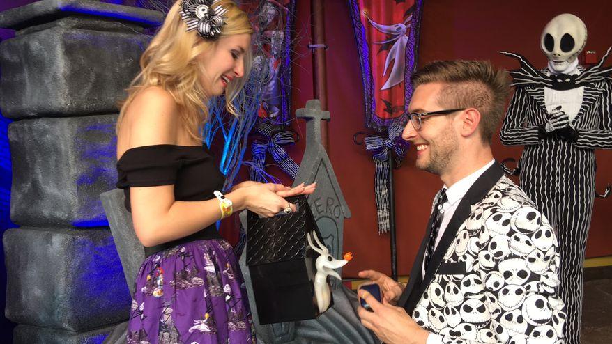 Kevin McCarthy had Disney World help set the scene for his proposal to Lauren Veneziani.
