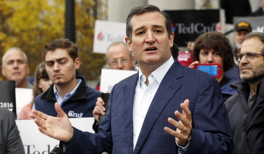 Atop the ballot leaderboard sits Sen. Ted Cruz, who has qualified in 24 states and territories, has filed in 13 more and plans to register soon in three more states, according to his campaign spokesman Rick Tyler. That would bring Mr. Cruz's official filings to 40 states and territories. (Associated Press)