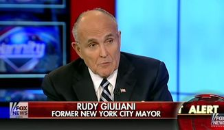 "Former New York City Mayor Rudy Giuliani argued Monday that the Islamic State terror group has been able to thrive in the Middle East due to President Obama's ""vacuous"" foreign policy. (Fox News)"