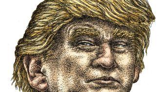 Illustration on Donald Trump by Kevin Kreneck/Tribune Content Agency