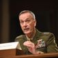 """Joint Chiefs Chairman Gen. Joseph Dunford said that two Iraqi brigades molded by American troops are ready to enter the crucial city of Ramadi at a """"much higher level"""" than other such mobilized units. (Associated Press)"""