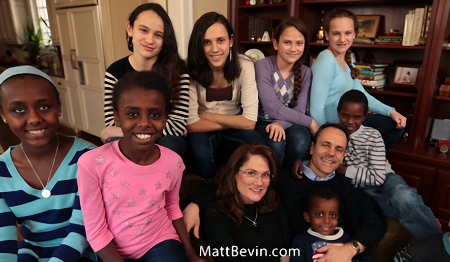 Kentucky Gov.-elect Matt Bevin and family. Courtesy of MattBevin.com.