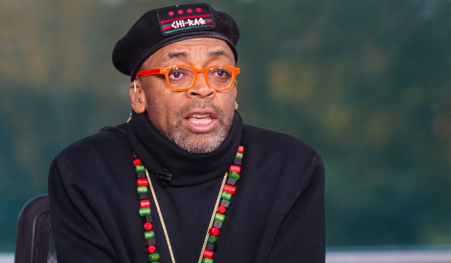 """IMAGE DISTRIBUTED FOR TV ONE - Filmmaker Spike Lee on the set of TV One's News One Now discussing his upcoming release of """"Chi-Raq"""" and Hollywood diversity on Friday Nov. 20, 2015. (Rodney Choice/AP Images for TV One)"""