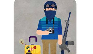 Syrian 'Tourist' Illustration by Greg Groesch/The Washington Times