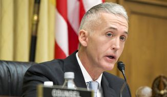 In this Nov. 19, 2015, file photo, Rep. Trey Gowdy, R-S.C., speaks on Capitol Hill in Washington. (AP Photo/Jacquelyn Martin, File)