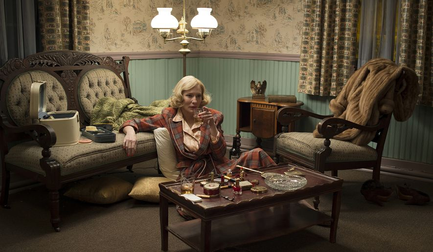 "This photo provided by The Weinstein Company shows, Cate Blanchett as Carol Aird in a scene from the film ""Carol."" The film was released on Friday, Nov. 20. (Wilson Webb/The Weinstein Company via AP)"