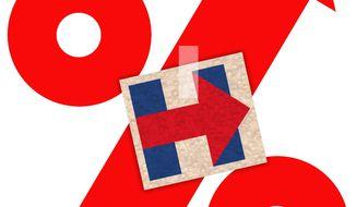Illustration on Hillary Clinton's tax plan by Alexander Hunter/The Washington Times