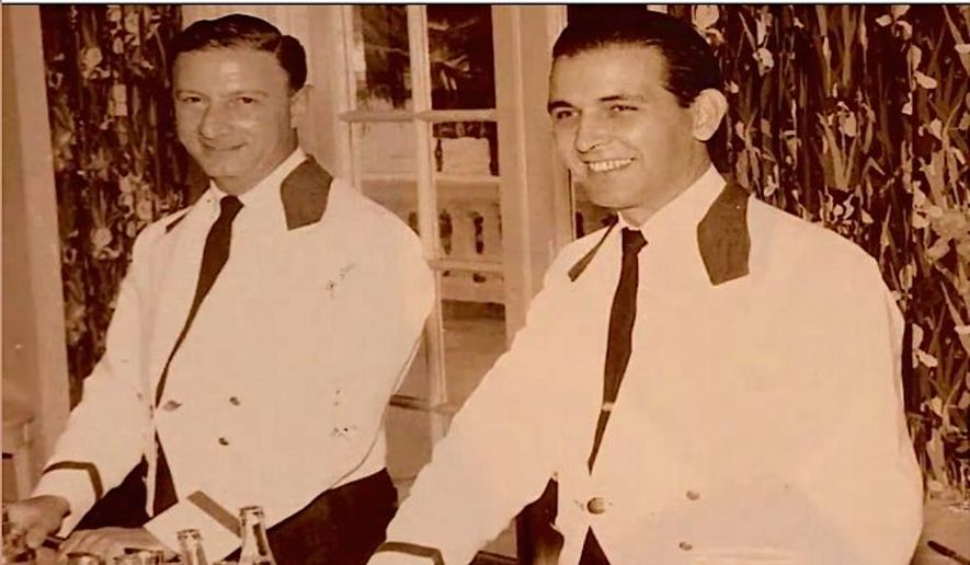 In a new campaign video, Sen. Marco Rubio recalls his late father Mario, at right, who worked for years as a bartender. (Marco Rubio)