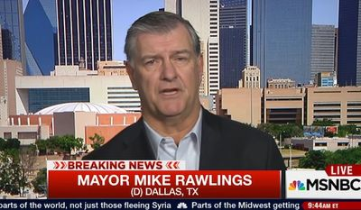 Dallas Mayor Mike Rawlings said he's more afraid of white men committing mass shootings than Syrian refugees committing acts of terrorism in the U.S. (MSNBC)