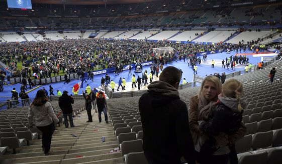 Working in three teams, the three-man unit assigned to wreak carnage at the Germany-France soccer match detonated three suicide bombs and killed exactly one innocent. They undoubtedly expected to kill hundreds. (Associated Press)