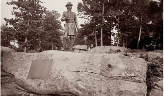 The monument to General Gouverneur K. Warren at Gettysburg     The Washington Times