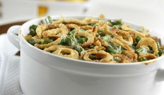 The iconic green bean casserole dominates the Thanksgiving table in many homes. (Photo courtesy of Campbells)