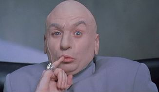 Mike Myers as Dr. Evil in the Austin Powers series.