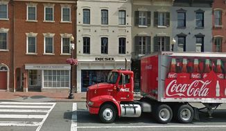 A flash mob of teenagers stole $13,000 worth of items from a Diesel store in upscale Georgetown Tuesday night, according to Washington, D.C. Police. (Google Street View)