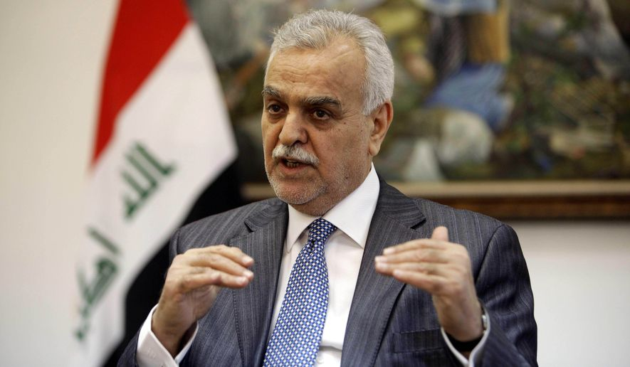 Former Iraqi Vice President Tariq al-Hashimi hopes for tribal harmony. (Associated Press)