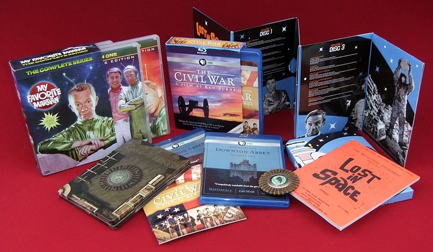 Gift ideas for TV connoisseurs include My Favorite Martian: The Complete Series, Downton Abbey: Limited Edition Collection, Game of Thrones: The Complete First Season, Steelbook Collectors Set, The Civil War: 25th Anniversary Edition and Lost In Space: The Complete Adventures. (Photograph by Joseph Szadkowski / The Washington Times)