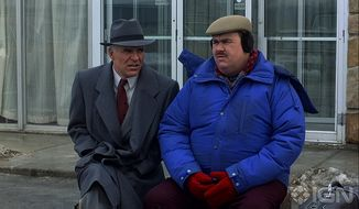 "Steve Martin (left) and John Candy are a mismatched traveling duo in the Thanksgiving-themed comedy ""Plains, Trains & Automobiles.""  (theimaginativeconservative.org)"