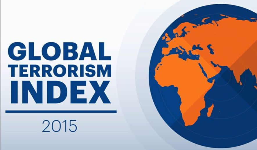The third annual Global Terrorism Index reports that deaths from terrorism are up 80 percent. (Institute of Economics and Peace)