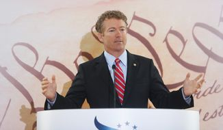 Sen. Rand Paul, R-Ky., speaks at the Faith and Freedom Coalition Road to Majority Conference luncheon in Washington. (AP Photo/Charles Dharapak)