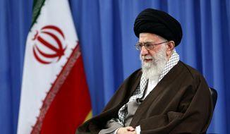 Iran's Ayatollah Ali Khamenei is shown in this 2015 file photo. (Associated Press) **FILE**