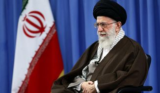 """On Sunday, Ayatollah Ali Khamenei spewed more anti-American broadsides in a special message to """"world youth"""" reported by Iran's semiofficial Fars News Agency. The Shiite leader accused the U.S. of creating and supporting al Qaeda and the Taliban, the two Sunni militant groups that American troops are fighting in Afghanistan. (Associated Press)"""